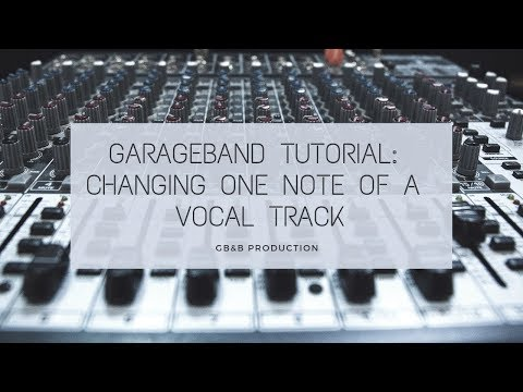 Garageband Tutorial: How To Auto Tune One Note of a Vocal Track