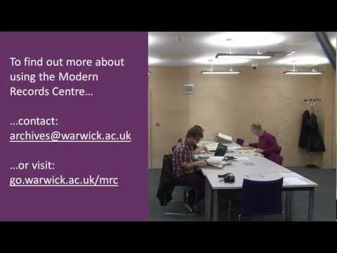 Using the Modern Records Centre