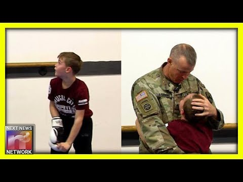 Military Dad Gives Son Most Memorable Surprise When He Surprises Him At This Place Unexpectedly
