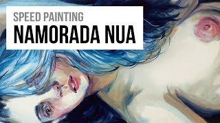 PRISCILA II - Modelo-vivo | Óleo sobre tela - Speed Painting #16