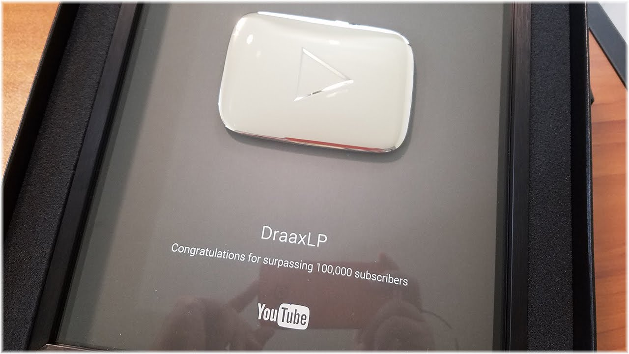 YouTube 100,000 Subscriber Play Button Unboxing