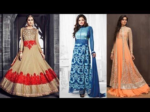 Long Anarkali Gown Dress Designs (Part 66)