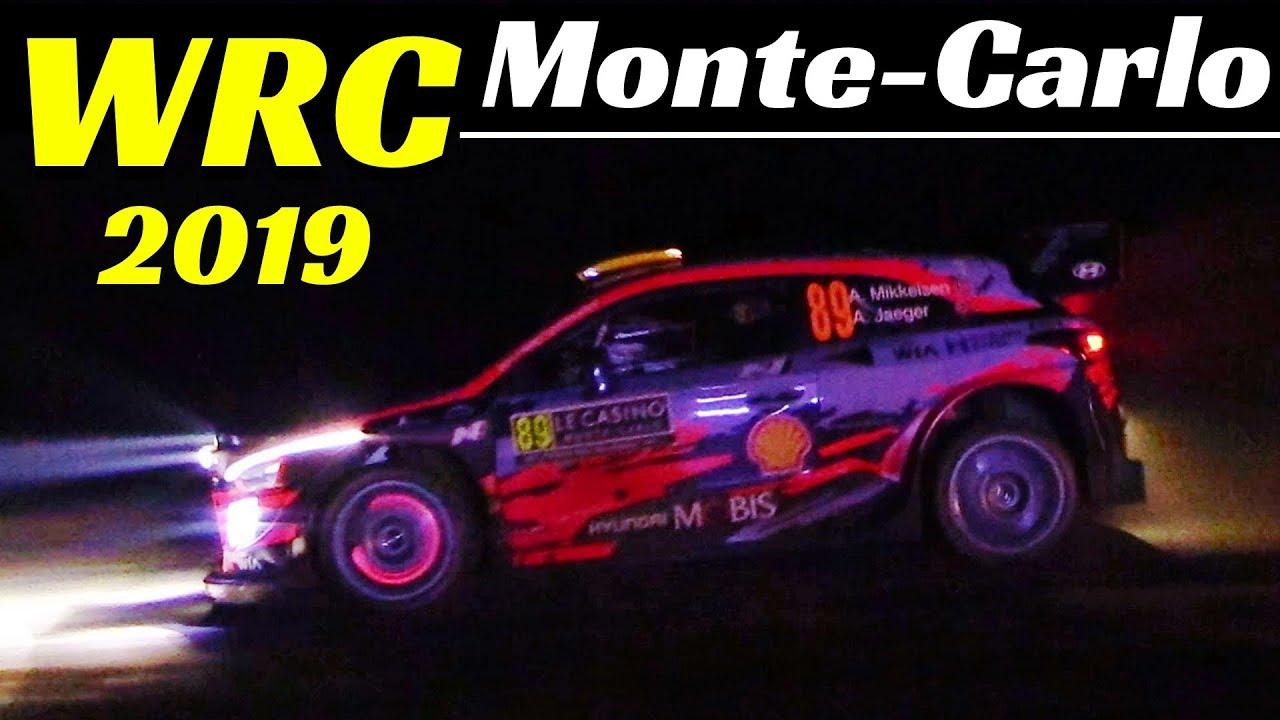 WRC Rallye Monte-Carlo 2019 - Ps1 La Brèole-Selonnet - Night Stage, Flatout & Glowing Brakes!