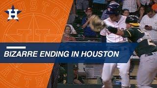 Astros walk it off in bizarre fashion in the 11th