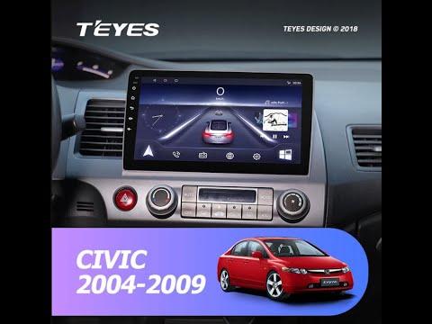 Установка магнитолы фирмы TEYES на HONDA Civic 2004 2009