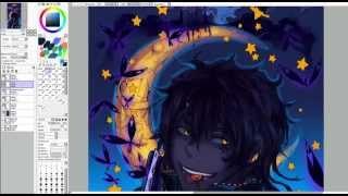 D. Gray Man - ティキ・ミック / Tyki halloween speedpaint (SAI)