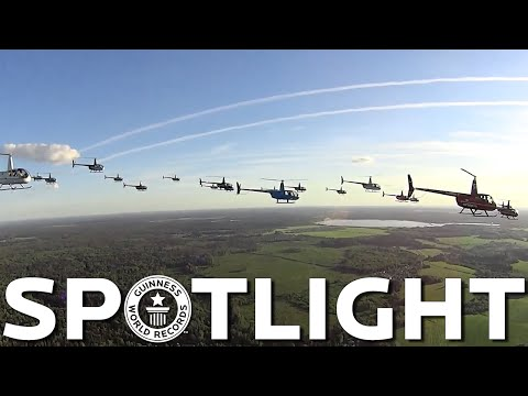 Largest helicopter formation flight - Spotlight
