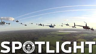 Largest helicopter formation flight - Spotlight