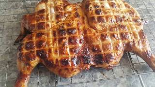 Курица целиком на мангале на решетке (маринад для курицы)