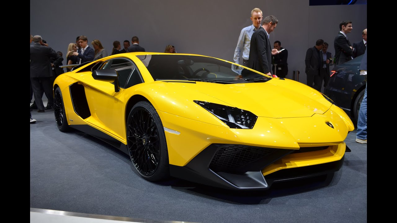 Lamborghini Aventador SV Geneva Motor Show YouTube - Auto show near me