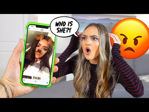 HOT GIRLS IN MY CAMERA ROLL PRANK To See How She Reacts (SHE CRIED)