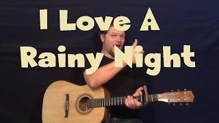I Love A Rainy Night (Eddie Rabbitt) Easy Guitar Lesson How to Play Tutorial