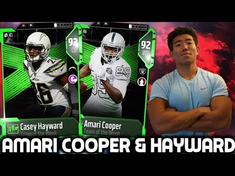NEW AMARI COOPER & CASEY HAYWARD ARE CLUTCH! Madden 18 Ultimate Team
