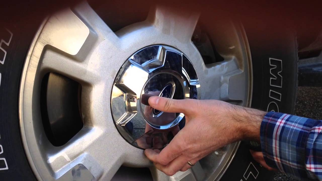 How To Remove Stock F150 Center Caps Youtube