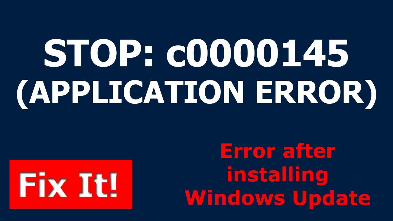 c0000145 windows 7