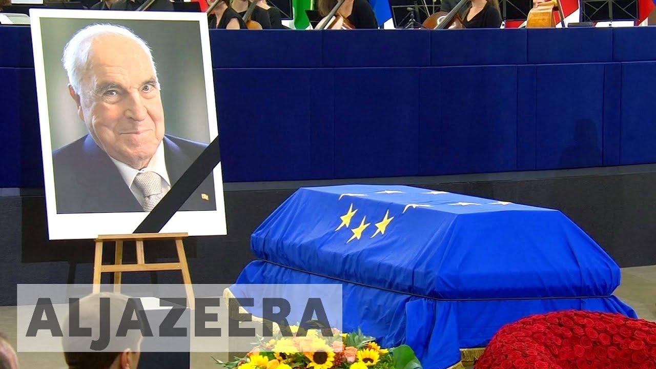 EU pays tribute to ex-German Chancellor Helmut Kohl