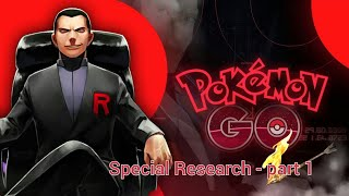 Looming in the Shadows - Pokemon Go special research part 1