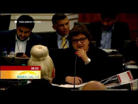 Minister Lynne Brown face legislators over state capture in parliament