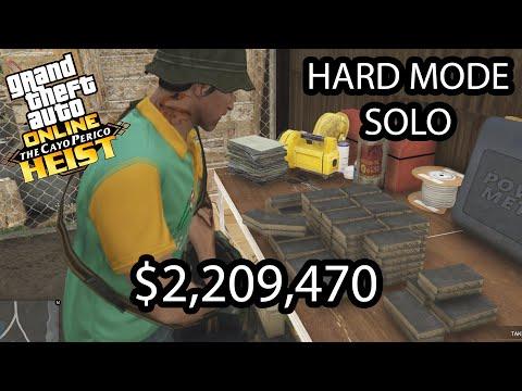 GTA Online Cayo Perico Heist- Solo Stealth Hard Mode $2,209,470