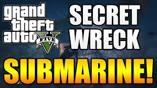 "GTA 5 - GIANT Submarine Wreck! - Underwater ""Nuclear Submarine!"" (GTA V)"