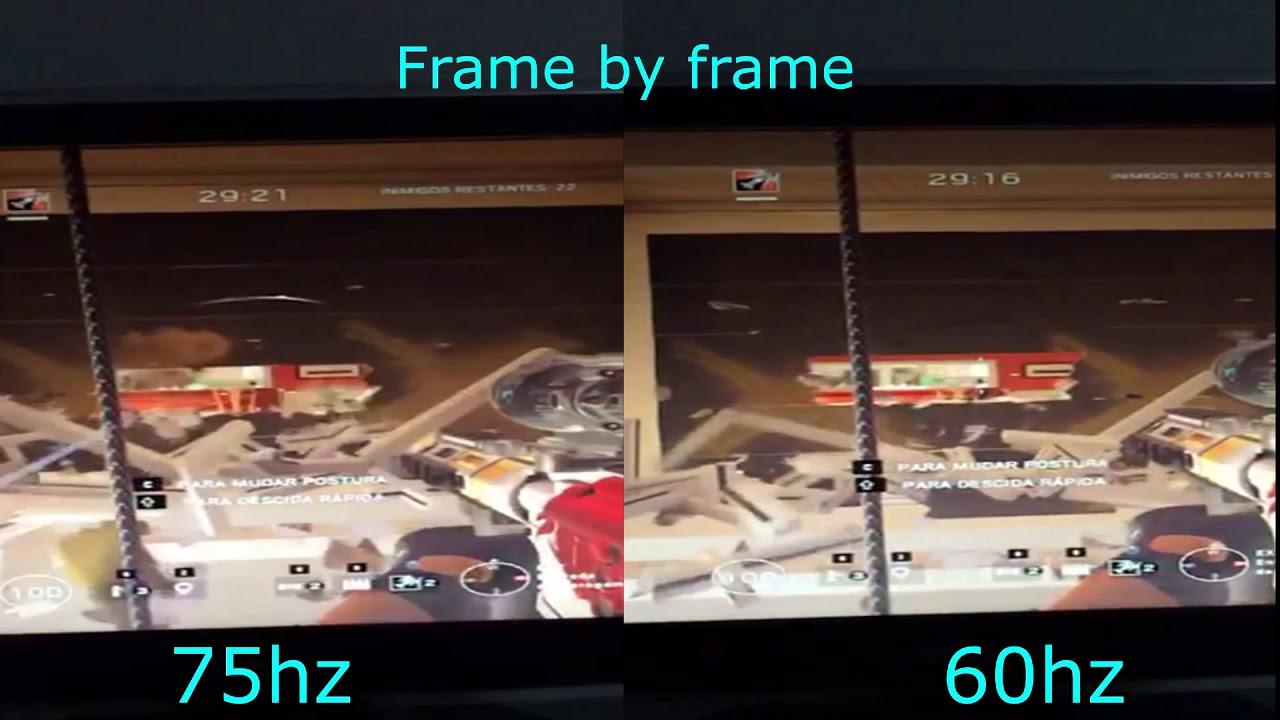 Rainbow Six Siege 60hz/75hz comparison