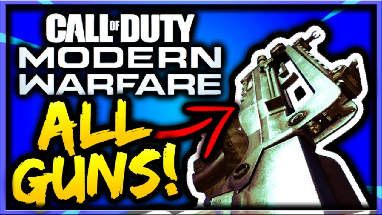 Call of Duty: Modern Warfare weapons list reportedly leaked