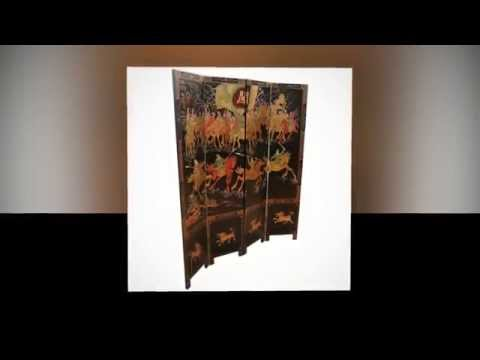 Chinese Oriental Furniture Samuari Screen By Newquay Bonsai