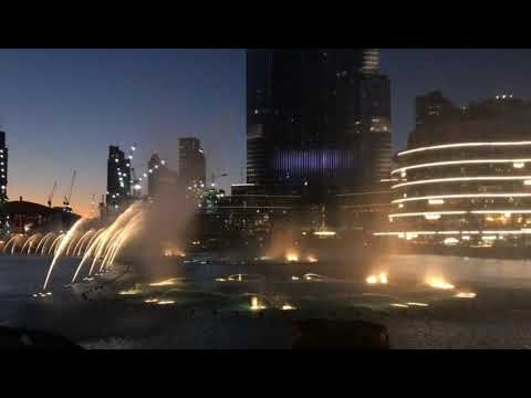 Dubai Fountain near Burj Khalifa