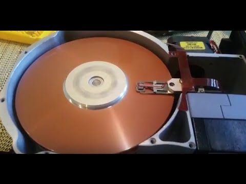Seagate ST-412 10MB Hard Drive Powering Up With Cover Removed!!