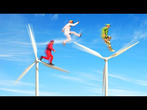 EXTREME WINDMILL JUMPING CHALLENGE! (GTA 5 Funny Moments)