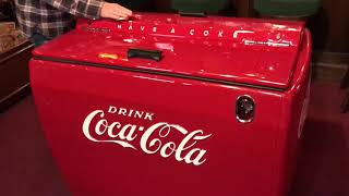 Fully Restored 1950's COKE Coca Cola Westinghouse Cooler SOLD $7,495