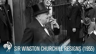 Sir Winston Churchill Resigns (1955) | British Pathé