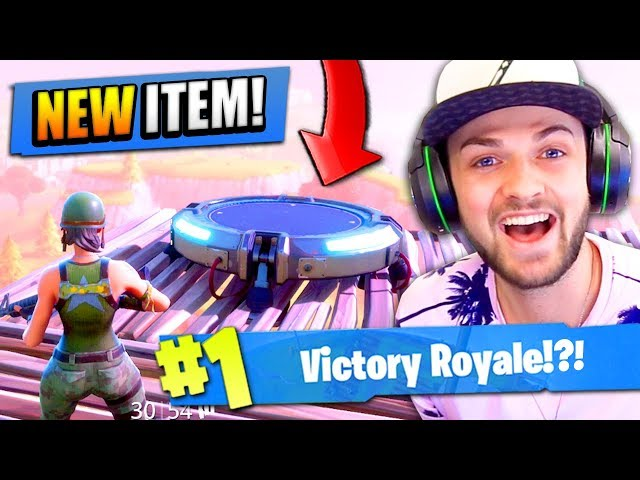 "Using the NEW ""JUMP PAD"" in Fortnite: Battle Royale!"