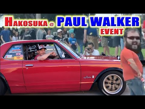 My Nissan Skyline Hakosuka at a Paul Walker Memorial Event   Crowd Reactions and Awesome Cars!