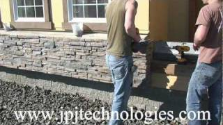 Installation Stacked Stone Veneer Panels over using cultured stone. part -1