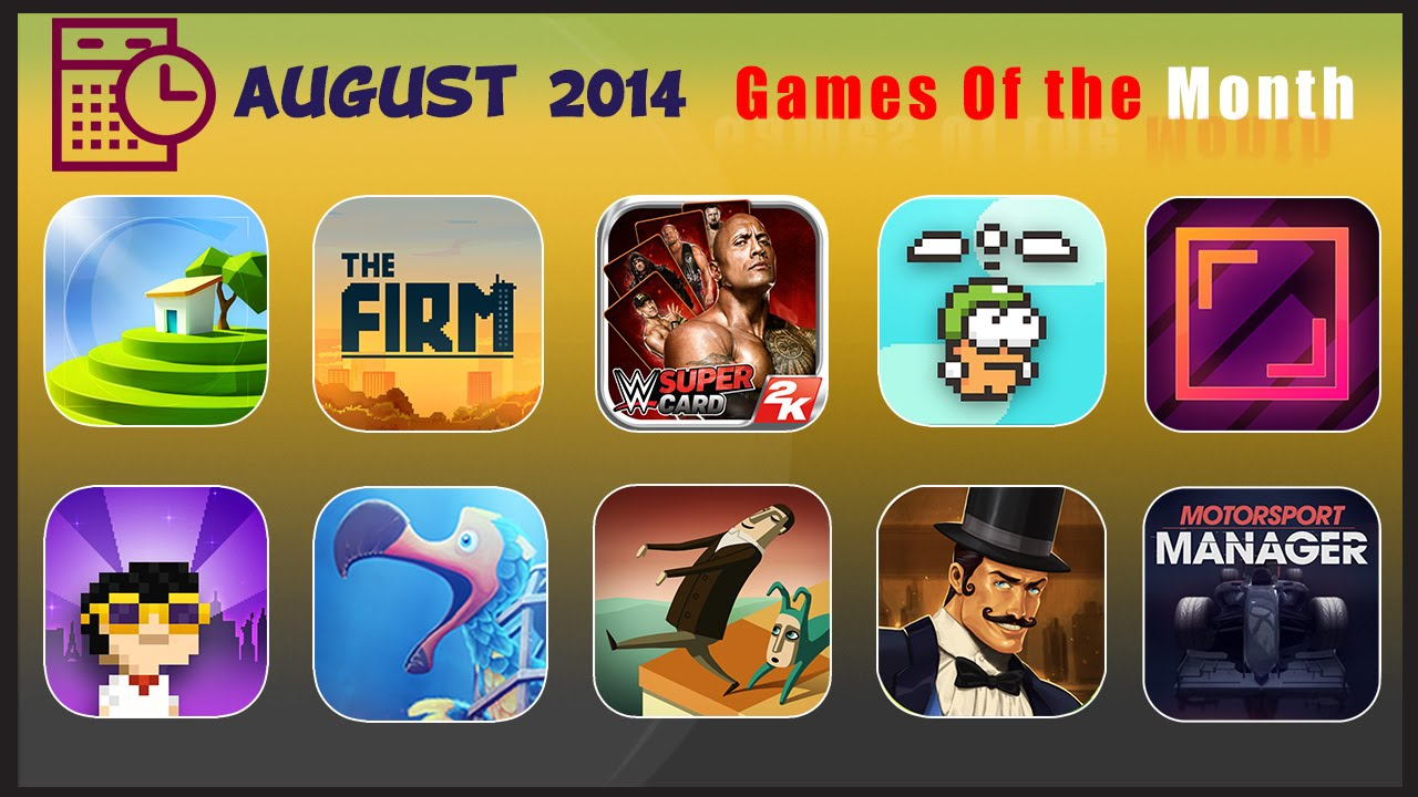 Top 10 iOS Games Of The Month August 2014 iGamesView - YouTube