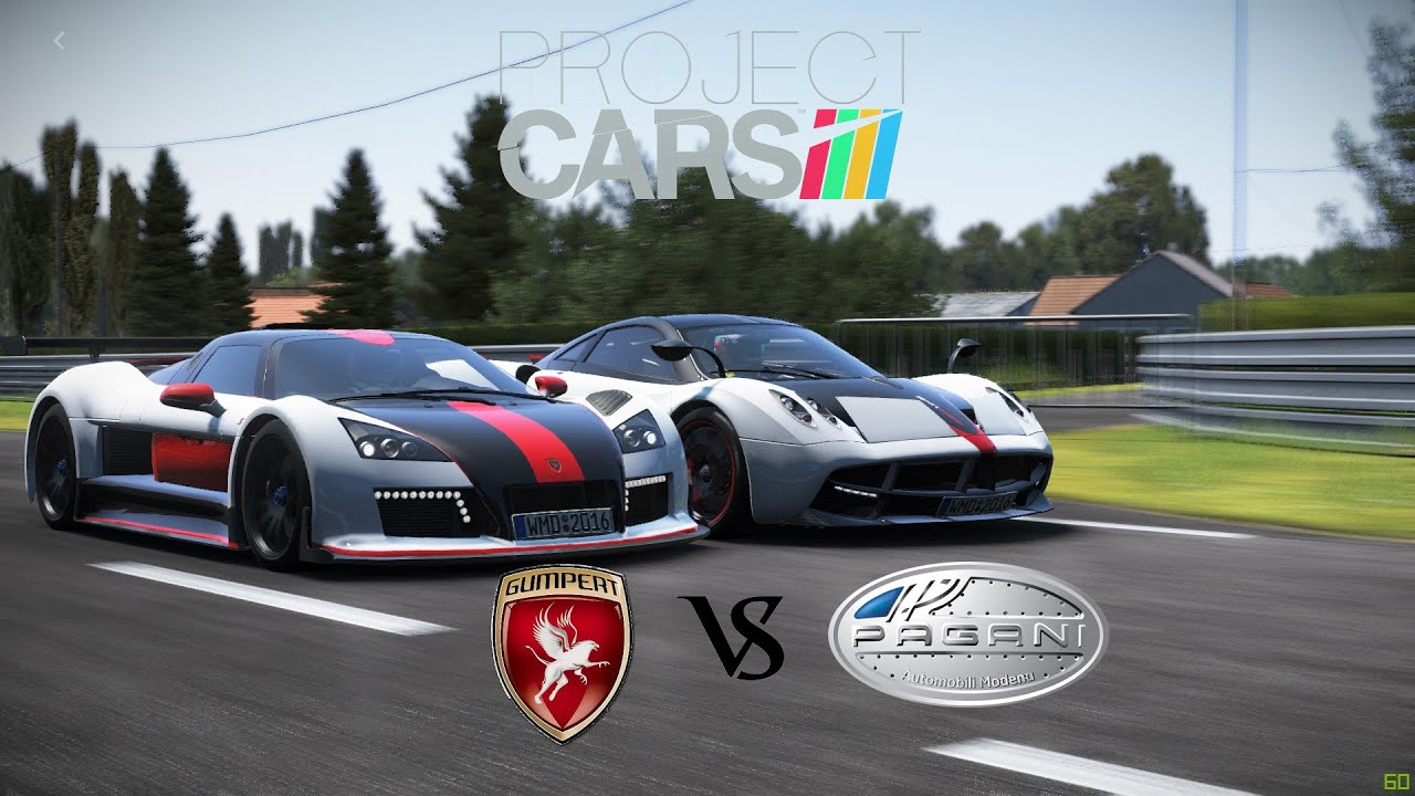 Project C A R S Pagani Huayra Vs Gumpert Apollo S Rolling Race