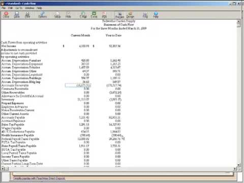 financial statements tutorial sage peachtree basics for new users