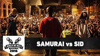 Samurai (RJ) vs Sid (DF) (Final) - Duelo de MCS Nacional 2016 - 20/11/16 thumbnail