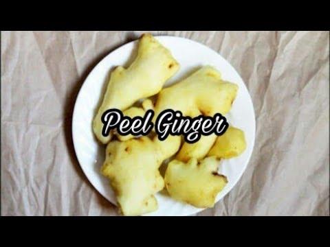 Easy method to peel ginger