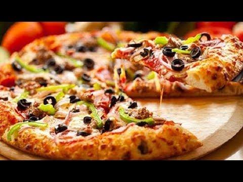 صورة  طريقة عمل البيتزا طريقه عمل البيتزا الصيامي _المطبخ الذهبي طريقة عمل البيتزا من يوتيوب