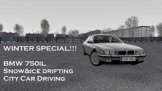 WINTER SPECIAL | BMW 750iL snow drift | City Car Driving