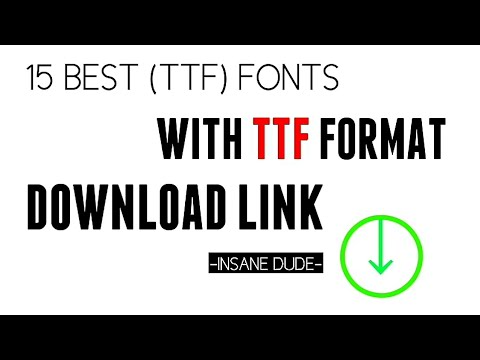 15 best (ttf) format fonts with download link