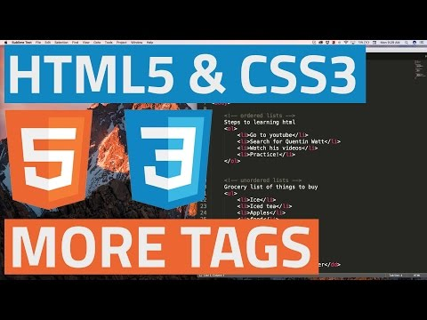 HTML5 and CSS3 beginner tutorial 29 - Semantic tags for the layout