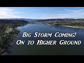 Big Storm Coming! On to Higher Ground -  Living in a Van