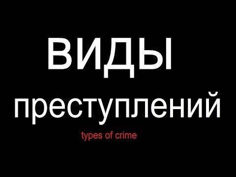 № 446 ВИДЫ ПРЕСТУПЛЕНИЙ