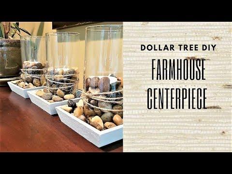 FARMHOUSE CENTERPIECE HOME DECOR DIY ~ Dollar Tree DIY