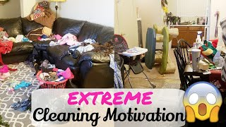 EXTREME Clean With Me/ Cleaning Motivation /Real Life Cleaning/ Messy House/ Speed Cleaning