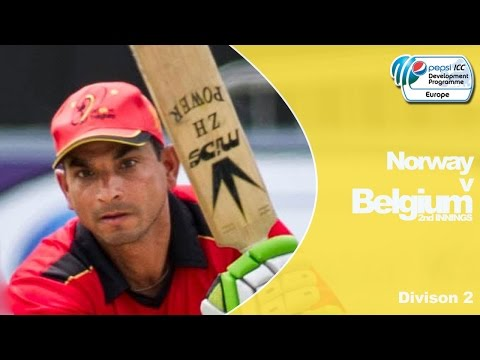 Belgium vs Norway - Belgium Innings - Pepsi ICC Europe Division 2