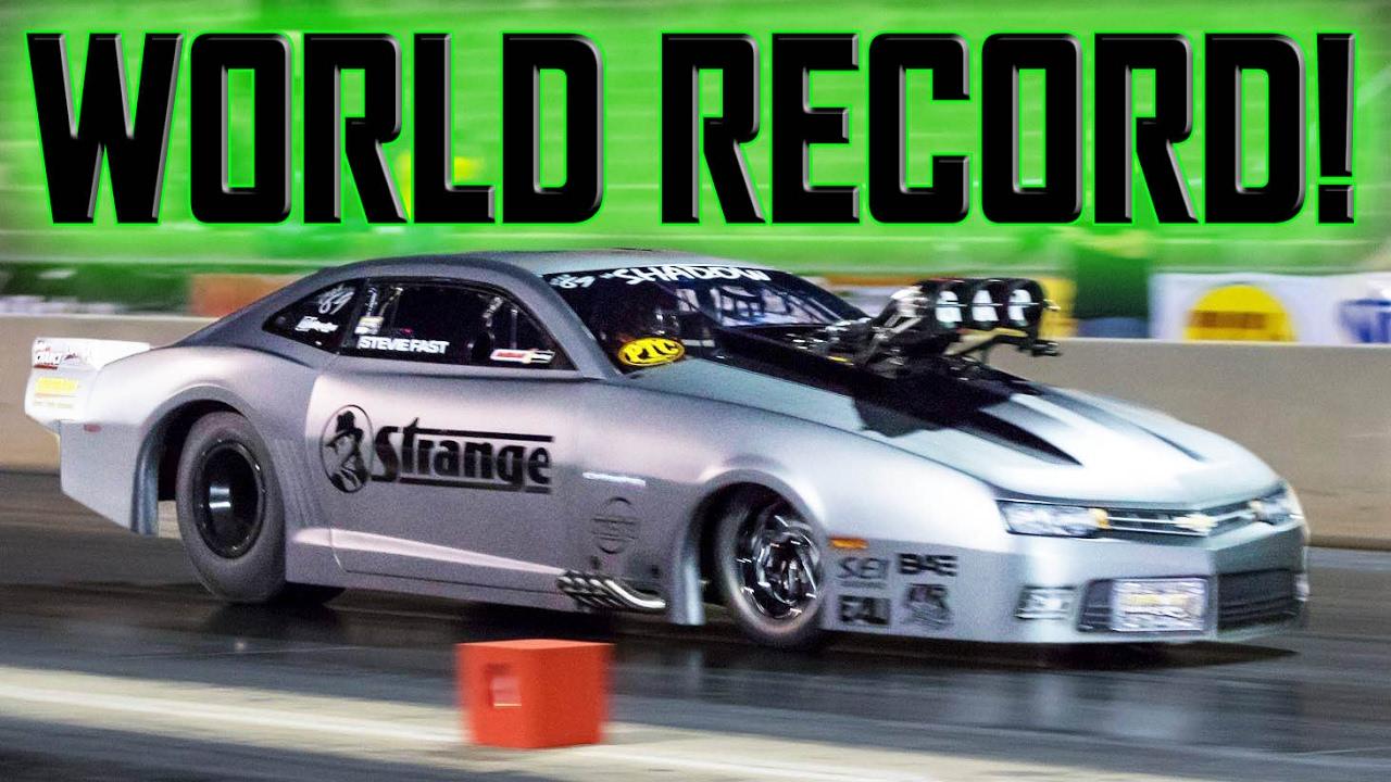Drag Radial World Record 2017 Stevie Fast Jackson Shadow